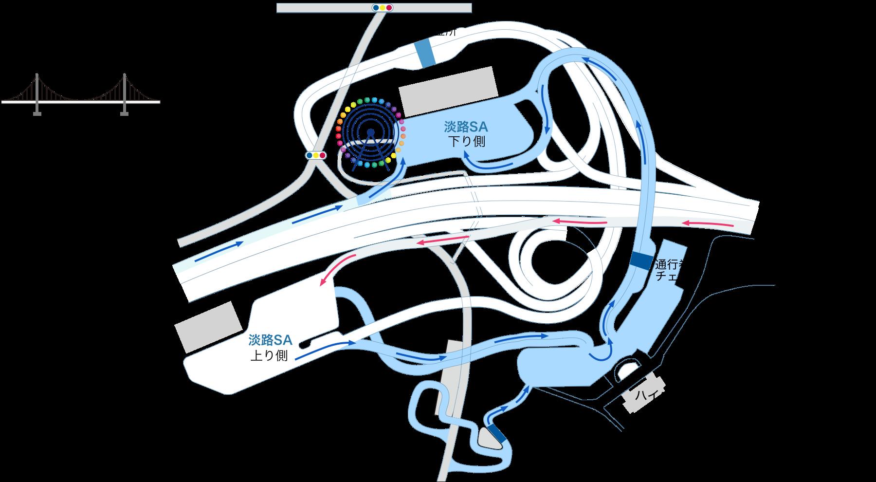 淡路サービスエリア ルートマップ